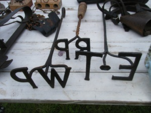 Branding or marking irons for sheep